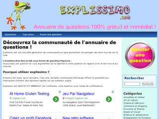 Explissimo Site de question réponse