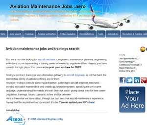 Détails : Aviation Maintenance Jobs